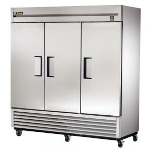 Commercial Freezer, Stainless In and Out, 3 Door, 72 Cu. Ft.