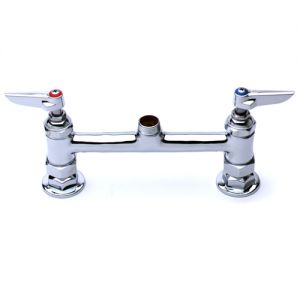 Deck Mount Mixing Faucet Base with Levers, 8 Inch Centers