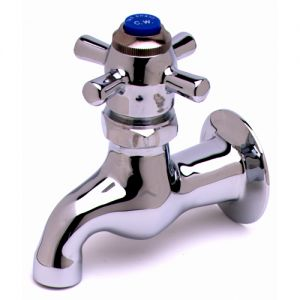 Heavy Duty Single Sink Faucet with Self Closing Four Arm Handle