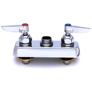 Deck Mounted Workboard Faucet without Nozzle, 4 Inch Centers