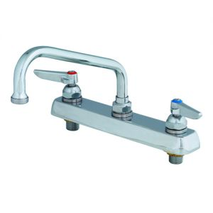 Deck Mounted Faucet with 8 Inch Swing Nozzle