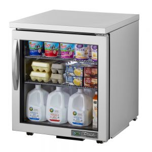 "27"" Undercounter Refrigerator w/ One Glass Door - Low Profile"