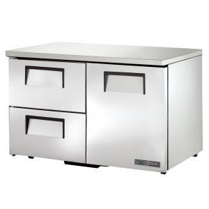 """48"""" Undercounter Refrigerator w/ One Solid Door and Two Drawers - Low Profile"""