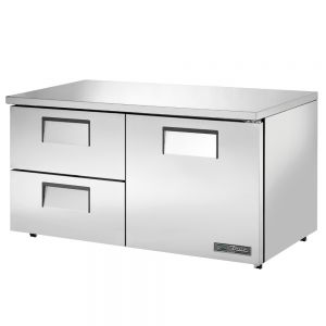 Low Profile Undercounter Refrigerator, 1 Door, 2 Drawers, 60 Inches