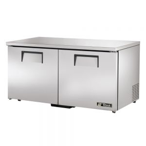 Low Profile Undercounter Freezer, 2 Door, 60 Inches