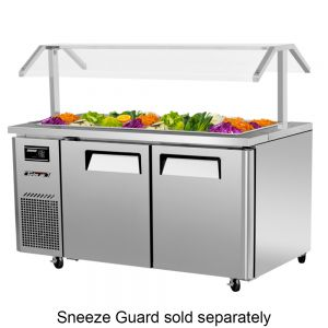 Refrigerated Buffet Table, Two Section, 15 Cu. Ft.