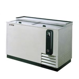 Bottle Cooler, 65 Inches Long, Self-Contained, Stainless Steel Exterior
