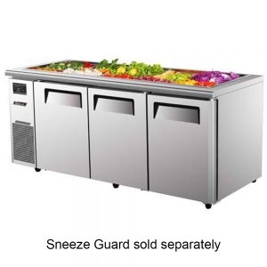 Refrigerated Buffet Table, Three Section, 18 Cu. Ft.