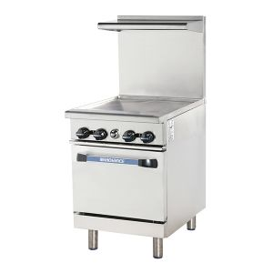 """24"""" Heavy Duty Restaurant Range w/ Griddle Top and 1 Oven"""