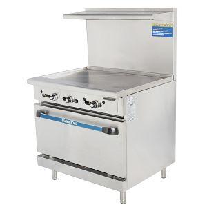 """36"""" Heavy Duty Restaurant Range w/ Griddle Top and 1 Oven"""
