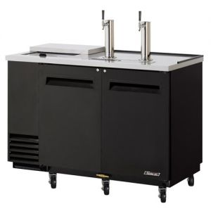 Club Top Direct Draw 2 Keg Beer Dispenser, Black, 59 Inches