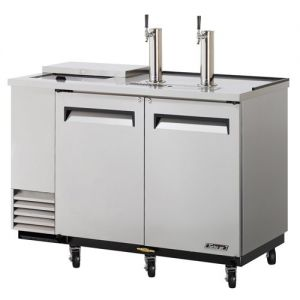 Club Top Direct Draw 2 Keg Beer Dispenser, Stainless Steel, 59 Inches