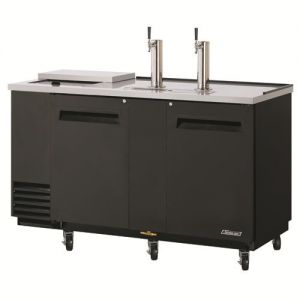Club Top Direct Draw 3 Keg Beer Dispenser, Black, 79 Inches