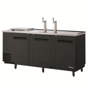 Club Top Direct Draw 4 Keg Beer Dispenser, Black, 90 Inches