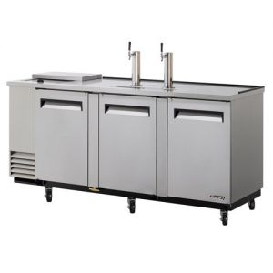 Club Top Direct Draw 4 Keg Beer Dispenser, Stainless Steel, 90 Inches