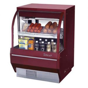 Curved Glass Deli Display Case, Low Profile, 6.8 Cu. Ft.