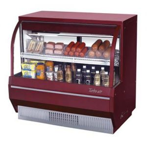 Curved Glass Deli Display Case, Low Profile, 9.3 Cu. Ft.