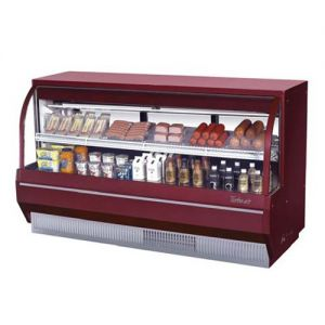 Curved Glass Deli Display Case, Low Profile, 14.2 Cu. Ft.