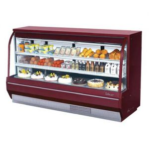 Curved Glass Deli Display Case, High Profile, 28.8 Cu. Ft.