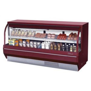 Curved Glass Deli Display Case, Low Profile, 19.2 Cu. Ft.