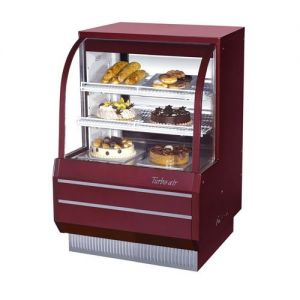 Curved Glass Dry Bakery Display Case, 10.92 Cu. Ft.