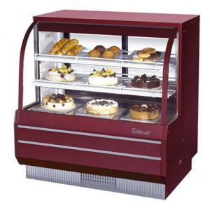 Curved Glass Dry Bakery Display Case, 14.85 Cu. Ft.
