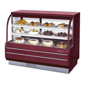 Dry/Refrigerated Curved Glass Bakery Display Case, 18.4 Cu. Ft.