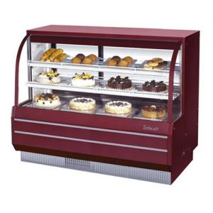Curved Glass Dry Bakery Display Case, 18.79 Cu. Ft.