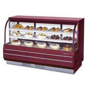 Dry/Refrigerated Curved Glass Bakery Display Case, 22.2 Cu. Ft.