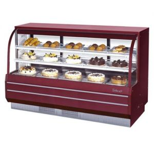 Curved Glass Dry Bakery Display Case, 22.73 Cu. Ft.