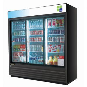 Refrigerated Glass Door Merchandiser, Three Section, 69 Cu Ft