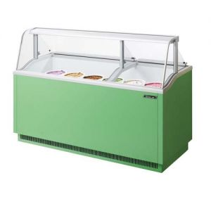 Ice Cream Dipping Cabinet, 70 Inches, Green