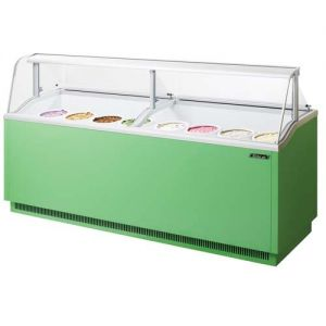 Ice Cream Dipping Cabinet, 91 Inches, Green