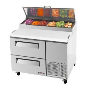 Super Deluxe Pizza Prep Table, 2 Drawers, 14 cu. ft.