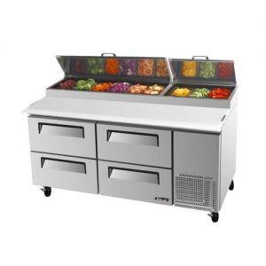 Super Deluxe Pizza Prep Table, 4 Drawers, 20 Cu. Ft.