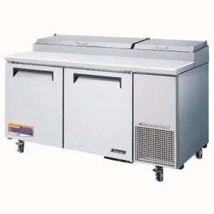Super Deluxe Pizza Prep Table, two-section, 20 cu. ft.