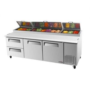 Super Deluxe Pizza Prep Table, 2 Door, 2 Drawers, 31 cu. ft.