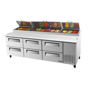 Super Deluxe Pizza Prep Table, 6 Drawers, 31 cu. ft.