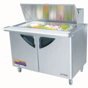 Super Deluxe Sandwich/Salad Unit, Mega Top, Two-Section, 14.7 Cu. Ft.