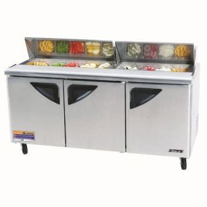 Super Deluxe Sandwich/Salad Unit, three-section, 19 cu. ft.
