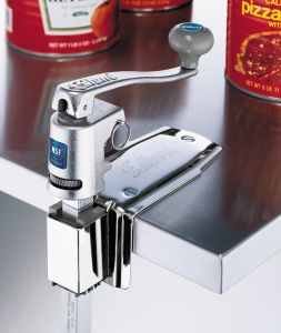 Universal Series Manual Can Opener W/ 16 In Bar and Clamp Base