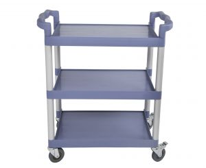 Gray 3 Tier Utility Cart, 19-3/4 x 42-1/2 x 37-7/8 Inches