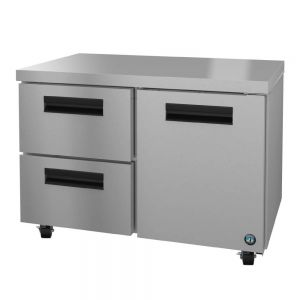 """Hoshizaki UR48A-D2 Steelheart 48"""" Undercounter Refrigerator with One Door and Two Drawers"""