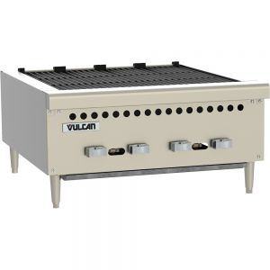 Medium Duty Radiant Countertop Charbroiler, 25 Inch, Gas