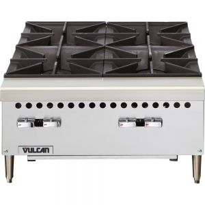 Hotplate, 4 Burner, 24 Inch, Gas