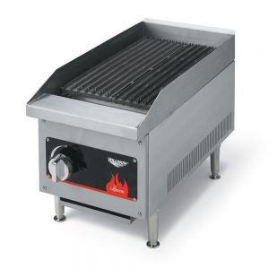 Commercial Charbroiler, Lava Rock and Radiant, Gas, 12 Inch