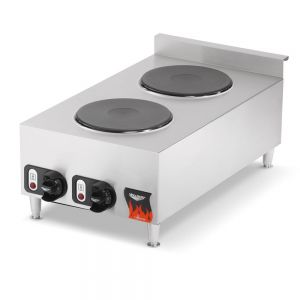 Countertop Hot Plate, 2 Solid Burners, 220v