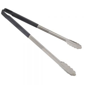 Spring-Less Utility Tongs with Black Color-Coded Kool Touch Handle