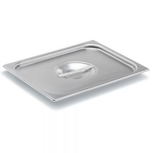 Half Size Stainless Steel Food Pan Cover, Solid