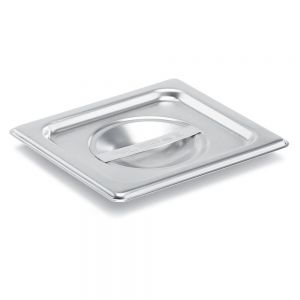 Sixth Size Stainless Steel Food Pan Cover, Solid
